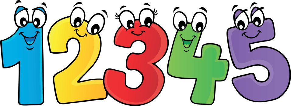 Cartoon numbers theme image 2 - eps10 vector illustration.
