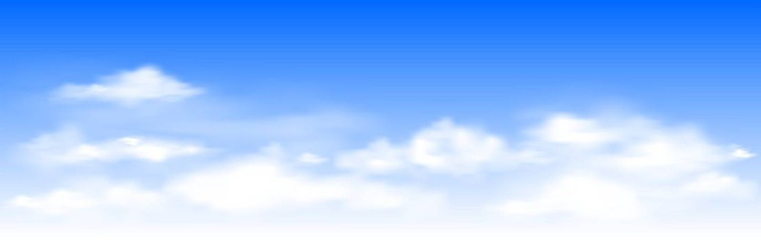 White clouds on the blue sky. Abstract background with clouds on blue sky. In the clear sky high floating clouds.
