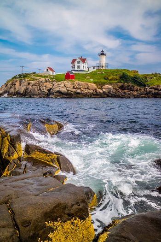 A well known Cape Neddick Light in York, Maine