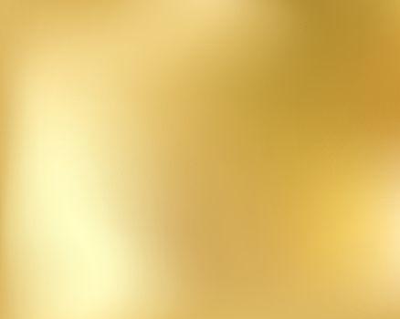 Golden background. Abstract light gold metal gradient. Vector blurred illustration.