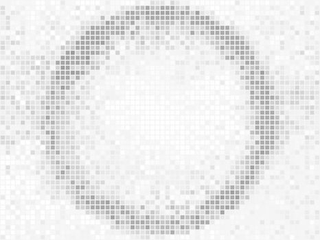 Abstract geometric background. Round Square Pixel Mosaic Vector Banner. Abstract light shape frame.
