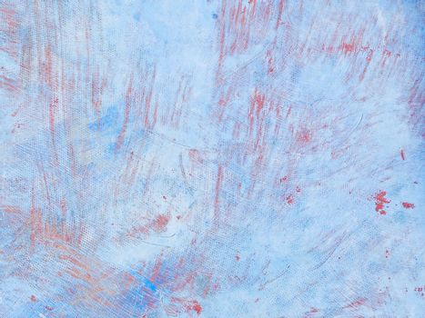 Beautiful grunge blue with reddish scratches texture - old surface painted many times with a fishing boat, photo, image