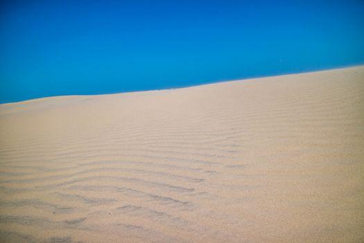 A very soft fine sandy beach in South Padre Island, Texas