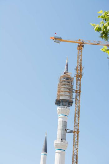 Minaret of a Mosques is being built in view