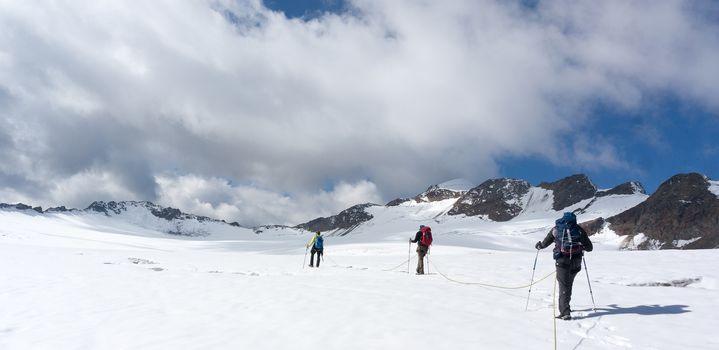 Mountain adventure in Tyrol Alps