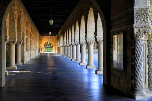 Stanford University, California at late afternoon.
