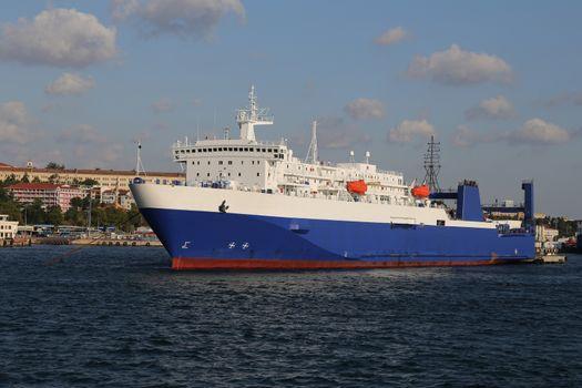 Roro Ship in Port
