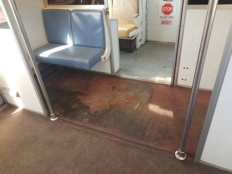filthy or dirty carpet in public metro system