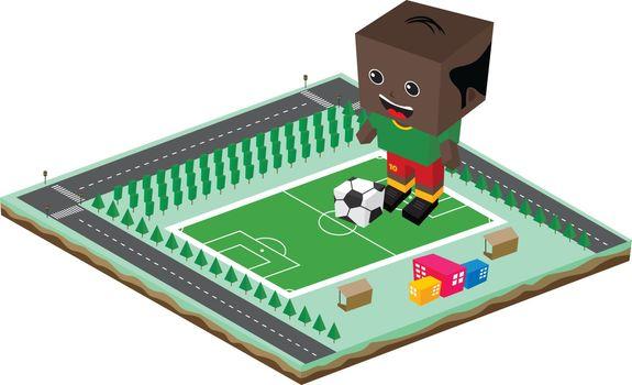 soccer league player cartoon