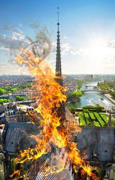 Steeple of Notre Dame