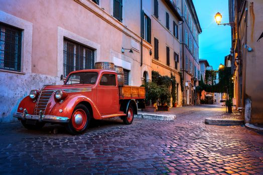 Trastevere street in Rome