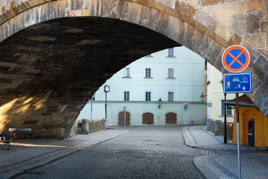 Street under the bridge
