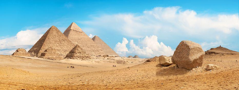 Pyramids of Giza panorama