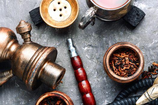 East shisha hookah with drink