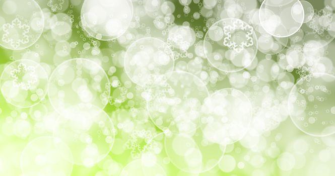 Bokeh Green background.