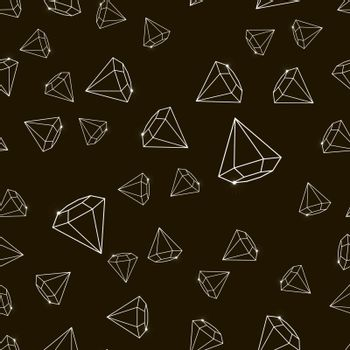 Outline Abstract vector glamour fashion diamond seamless background 10 eps