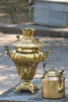 Samovar as traditional kettle