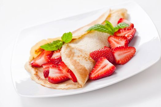 Crepe With Organic Strawberries