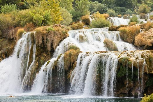 Krka, Sibenik, Croatia - Never-ending cataract through Krka Nati