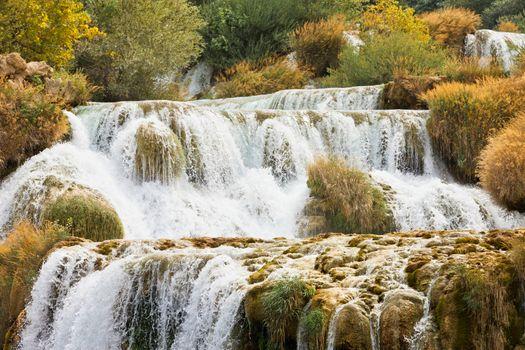 Krka, Sibenik, Croatia - Experiencing the strenght of water at t