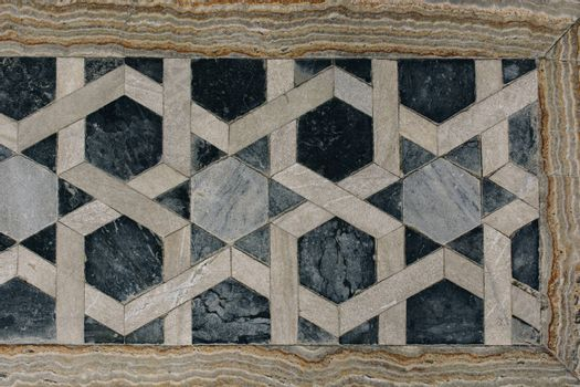 Example of applied Ottoman art patterns on stone