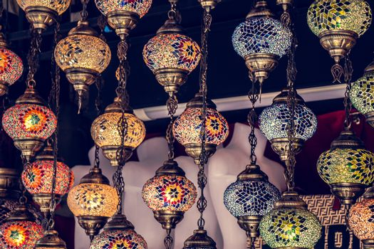 Mosaic Ottoman lamps from Grand Bazaar in  Istanbul