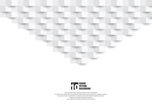 Abstract 3D white paper art style texture and background with copy space. Geometric squares pattern with shadow. You can use for cover design, book, brochure, presentation. poster, cd, flyer, website, etc. Vector illustration