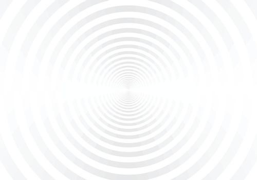 Abstract white and gray radial circles tunnel background. You can use for template brochure, poster, leaflet, banner web, flyer, presentation. Vector illustration