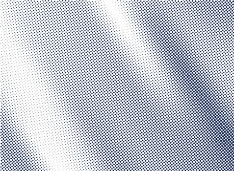 blue satin and silk cloth fabric crease background and texture halftone style. Vector illustration
