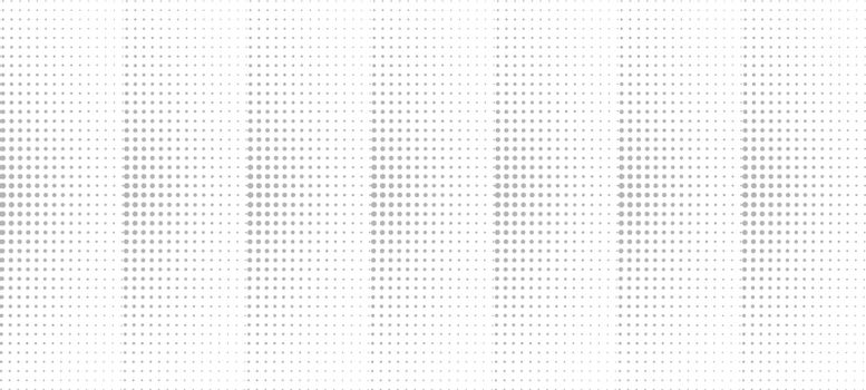 Abstract gray halftone pattern isolated on white background. Circles and dots patterns. Vector illustration