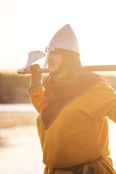 Slavic warrior with axe