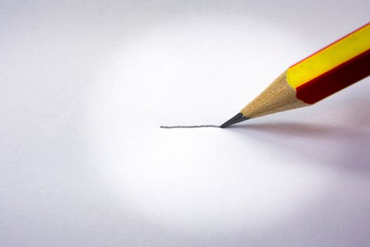 Drawing a Line with a Typical Lead Pencil