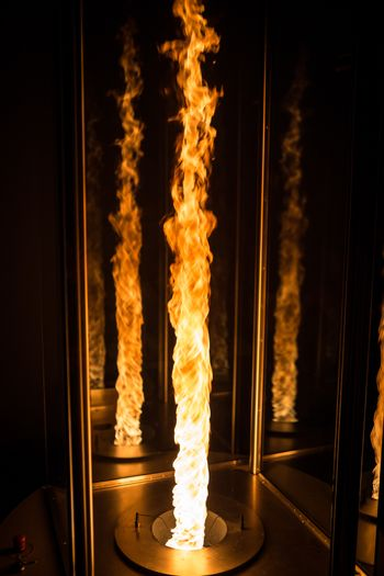 Fire tornado made in a laboratory controlled enviroment