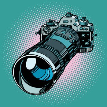 camera with telephoto lens