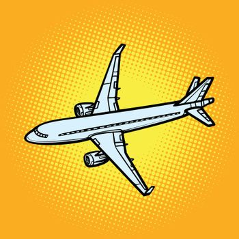 aircraft air transport yellow background