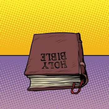 Holy Bible book. Christianity and religion