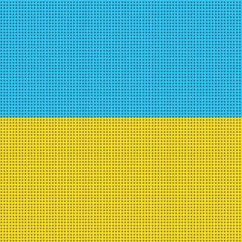 yellow blue national flag of Ukraine