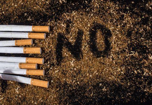 World No Tobacco Day poster for say no smoking concept