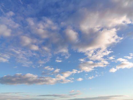 Beautiful clouds in a blue sky