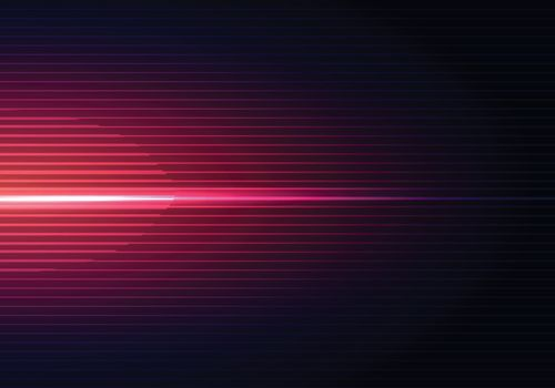 Abstract dark blue background with horizontal red light and lines pattern shadow wallpaper. Vector illustration