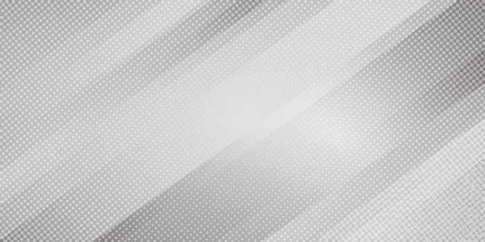 Abstract gray and white gradient color oblique lines stripes background and dots texture halftone style. Geometric minimal pattern modern sleek texture. Vector illustration