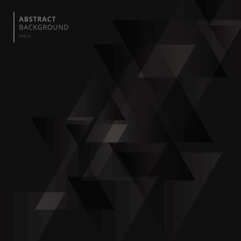 Abstract technology black geometric triangles shape overlapping background. Vector illustration