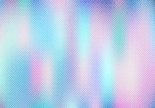 Abstract smoot blurred holographic gradient background with halftone texture effect. Hologram  Luxury trendy tender pearlescent. Vector illustration
