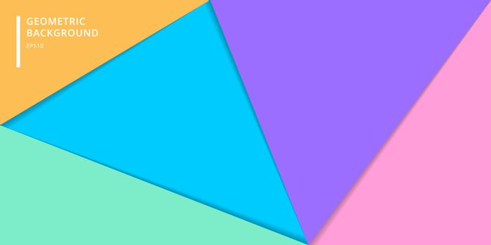 Template banner website of layered colorful paper style background. Abstract geometric triangles for cover brochure, poster, card, leaftlet, flyer, etc. Vector illustration