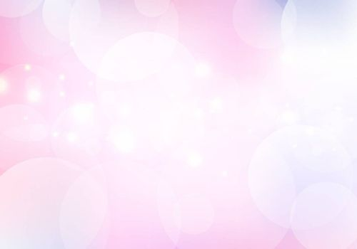 Abstract nature glowing sun light flare and bokeh with pastels color smooth blurred background. Vector illustration