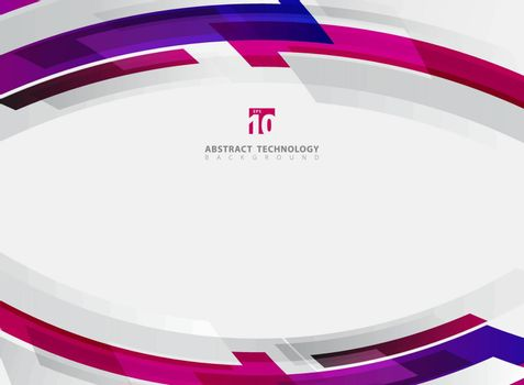 Abstract technology geometric red, blue, pink color shiny motion background. Template with header and footer for brochure, print, ad, magazine, poster, website, magazine, leaflet, annual report. Vector corporate design