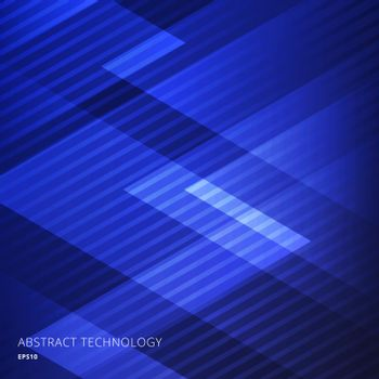 Abstract elegant geometric triangles blue background with diagonal lines pattern. Vector illustration