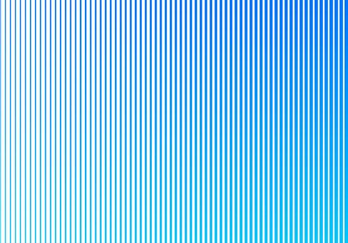 Abstract blue gradient color vertical lines pattern on white background. Halftone style design. Vector illustration