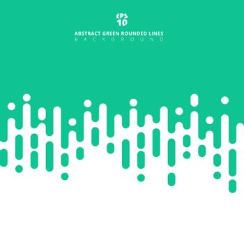 Abstract green pastels color geometric rounded lines halftone transition background. Vector Illustration