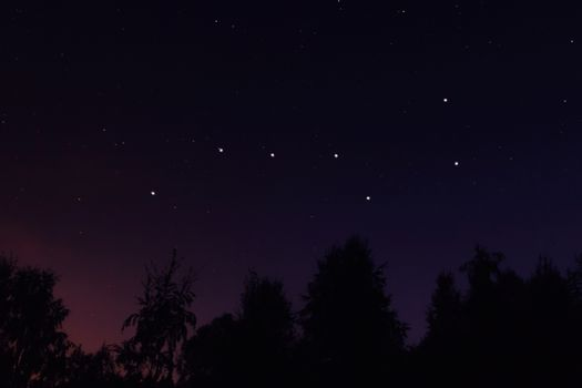 Constellation Ursa Major big dipper or Great Bear in the night starry sky